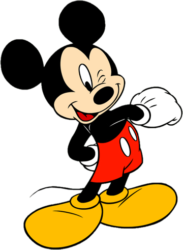 Mickey mouse clip art free black and white clipart.