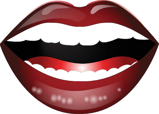 Laughing Mouth Smiley Emoticon Clipart.
