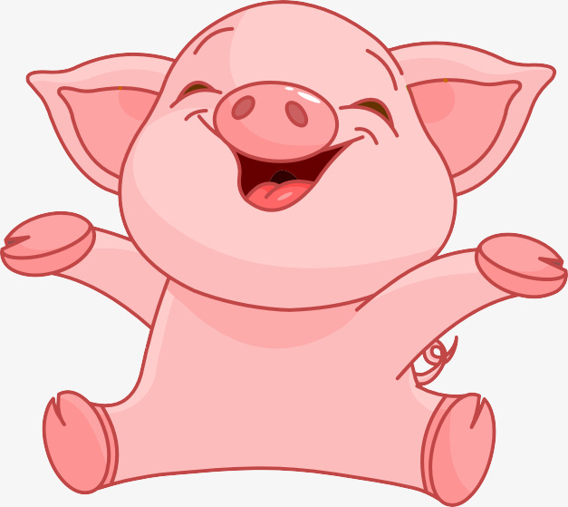 Laughing Pig Clipart.