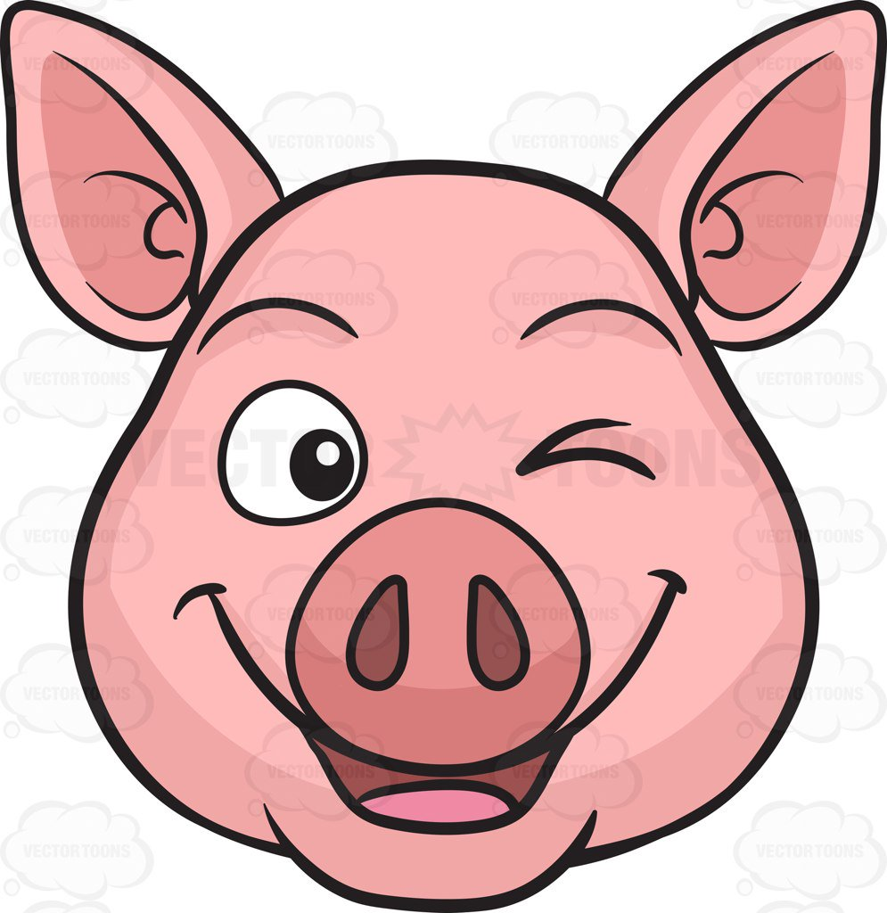 Pig Clipart Face.