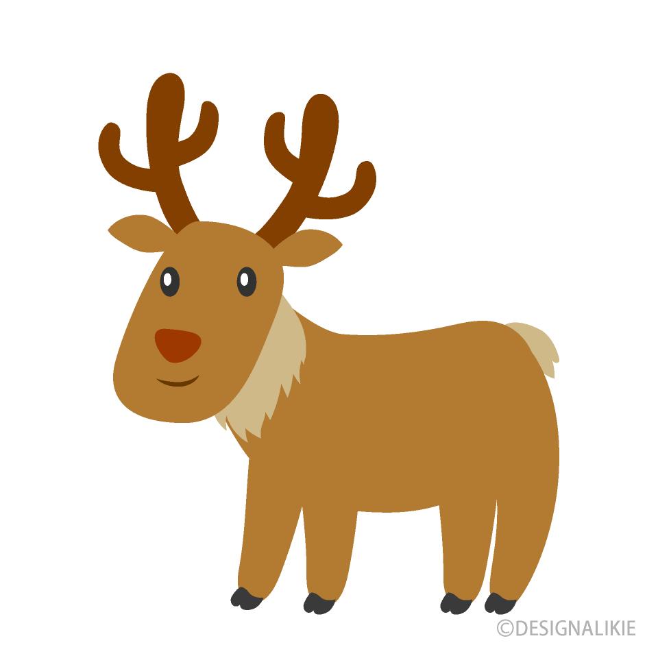 Free Cute Reindeer Clipart Image|Illustoon.