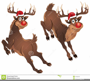 Reindeer Laughing Clipart.