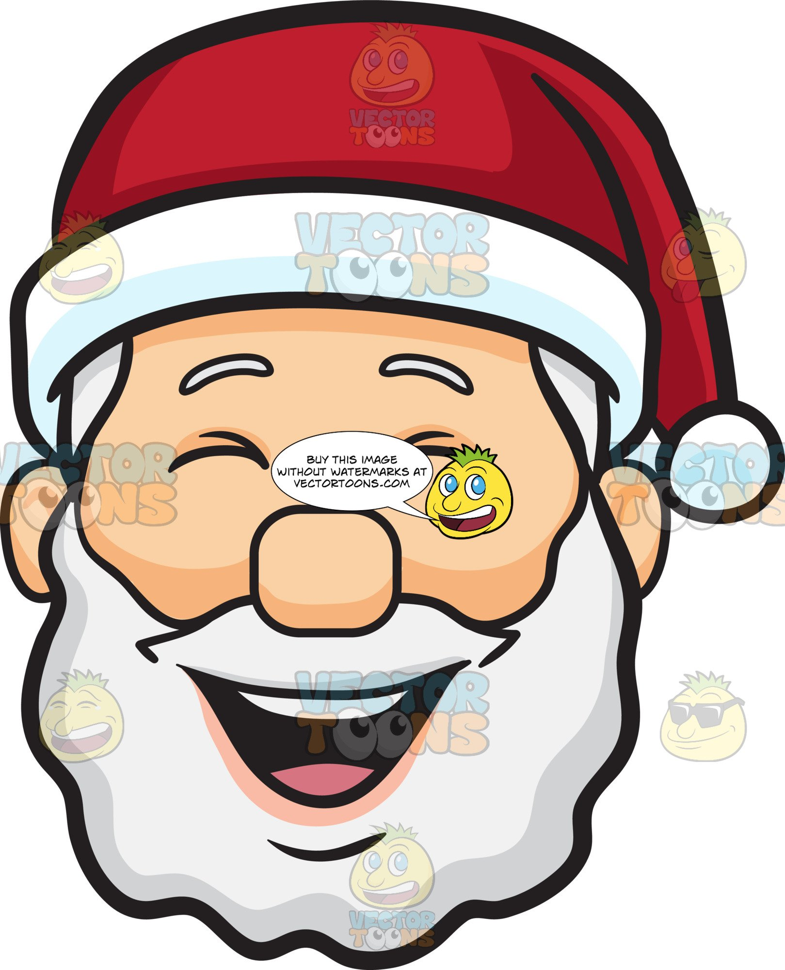 A Laughing Face Of Santa Claus.