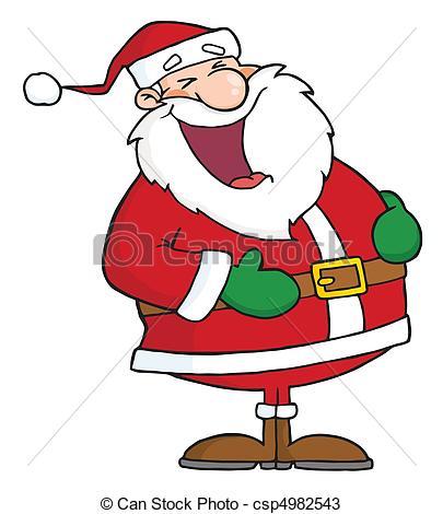Santa Laughing.