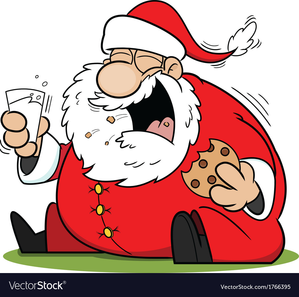 Laughing Santa Claus Cartoon.