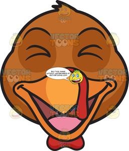 A Laughing Turkey.
