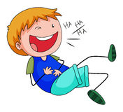 Boy laughing clipart.