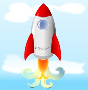 Rocket Launch Clipart.