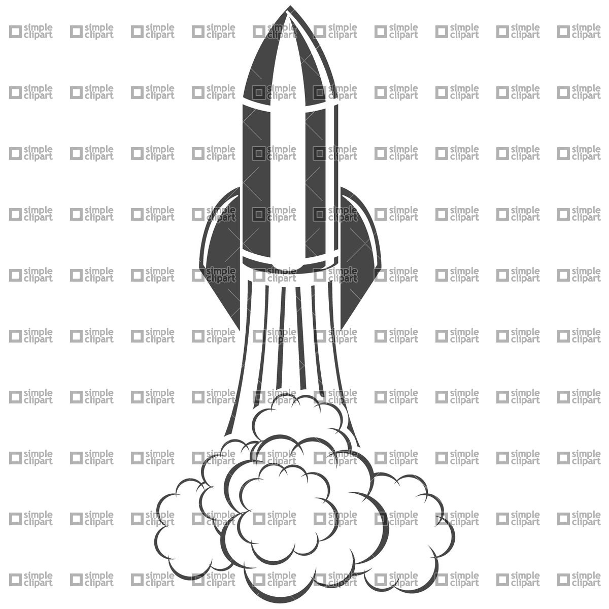 Space rocket launch Vector Image #891.