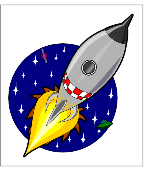 Rocket Launch Clipart.