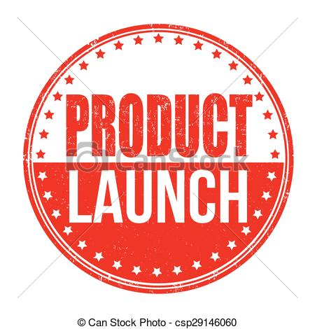 Clip Art Vector of Product launch stamp.