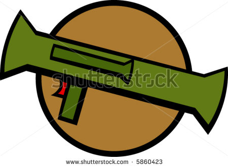 Rocket launcher clipart.