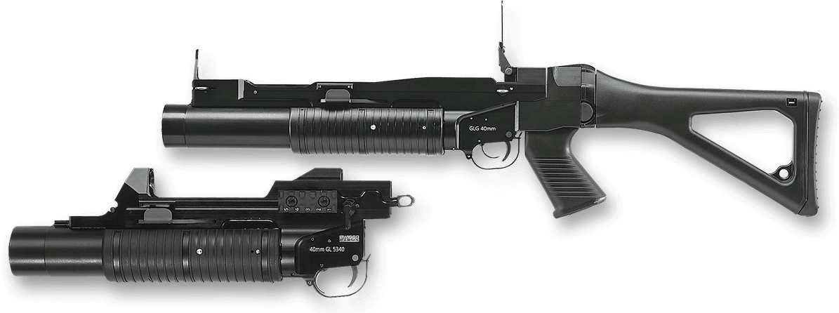 Grenade Launcher PNG Background Image.