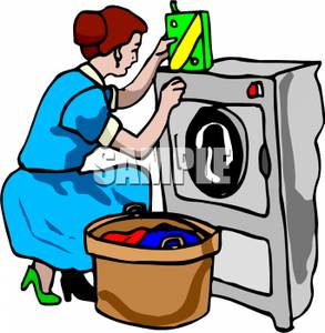 Doing Laundry Clipart.