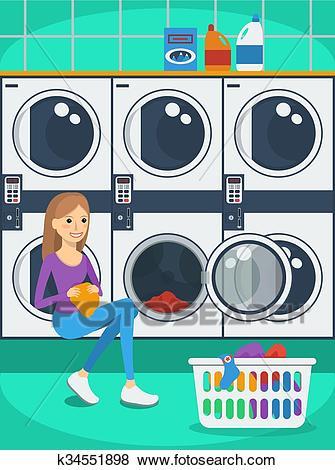 Laundromat Clip Art.