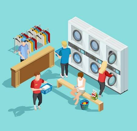 2,122 Laundromat Stock Vector Illustration And Royalty Free.