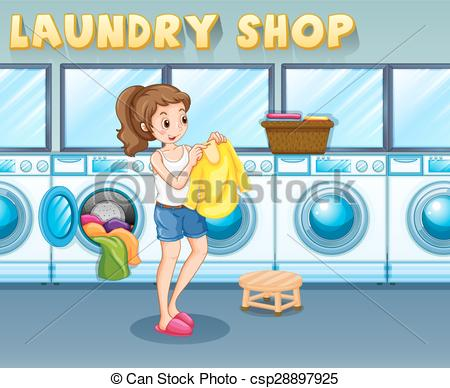 EPS Vectors of Laundromat Girl.