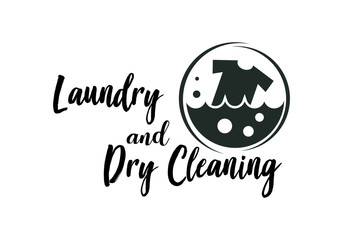 Laundromat Logo photos, royalty.