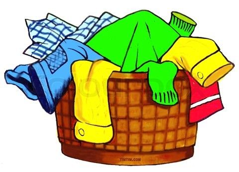 Laundry Basket Illustration.