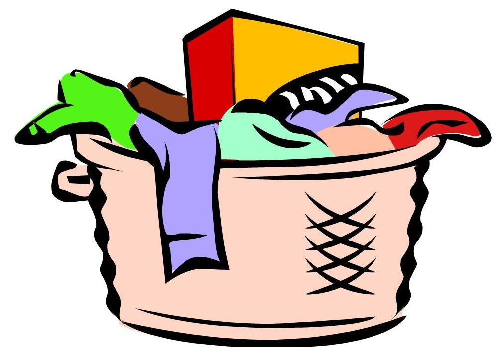 295 Laundry Basket free clipart.