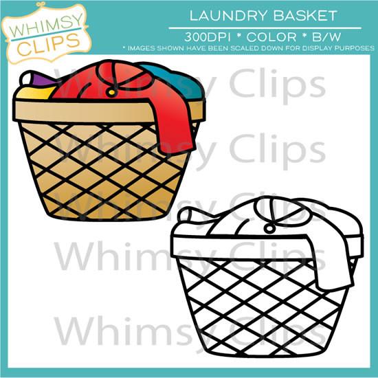 Laundry Basket Clip Art , Images & Illustrations.