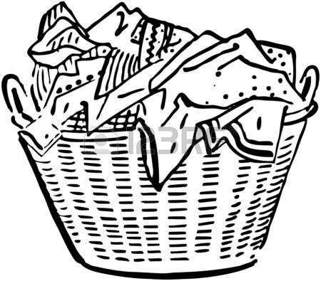980 Laundry Basket Stock Vector Illustration And Royalty Free.