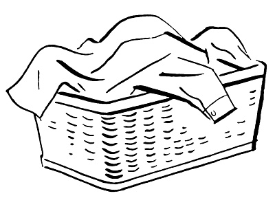 Laundry Basket Clip Art.