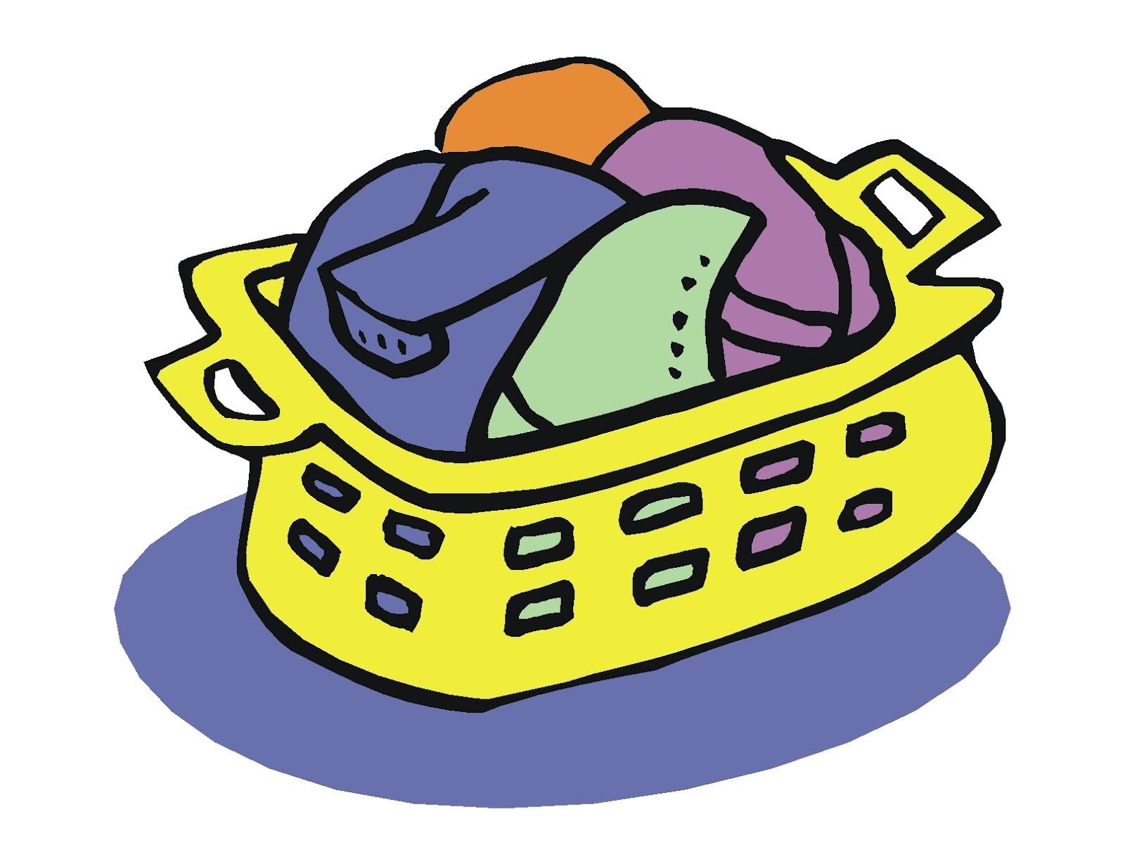 Laundry Basket Clipart.