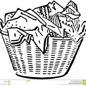 Excellent Laundry Basket Clip Art Layout.