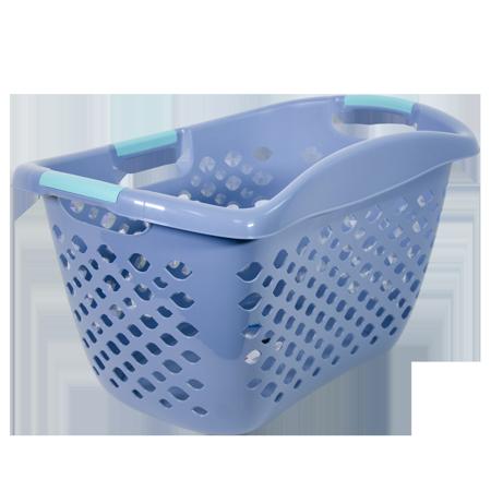 Home Logic HIP GRIP Laundry Basket, Large 1.8 Bu Hip Hugging Basket,  Multiple Colors.