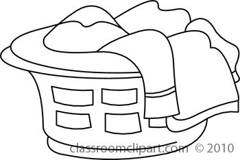 Laundry basket clipart black and white 3 » Clipart Portal.