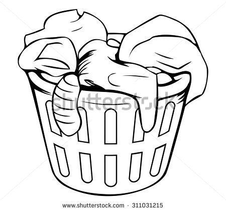 Laundry basket clipart black and white » Clipart Portal.