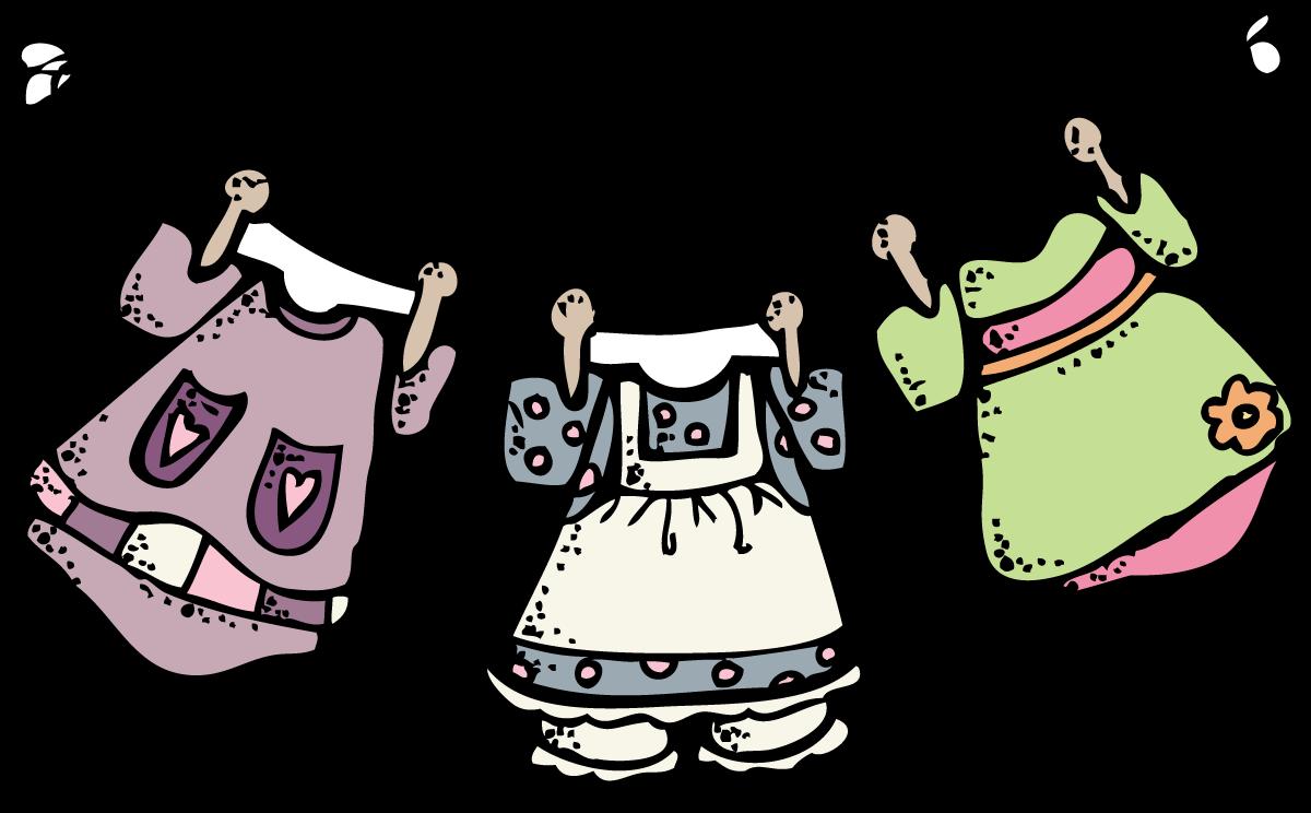 Folded Laundry Cliparts.