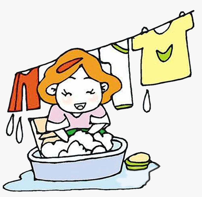 Cartoon Washing Clothing Laundry Clip Art Mum.