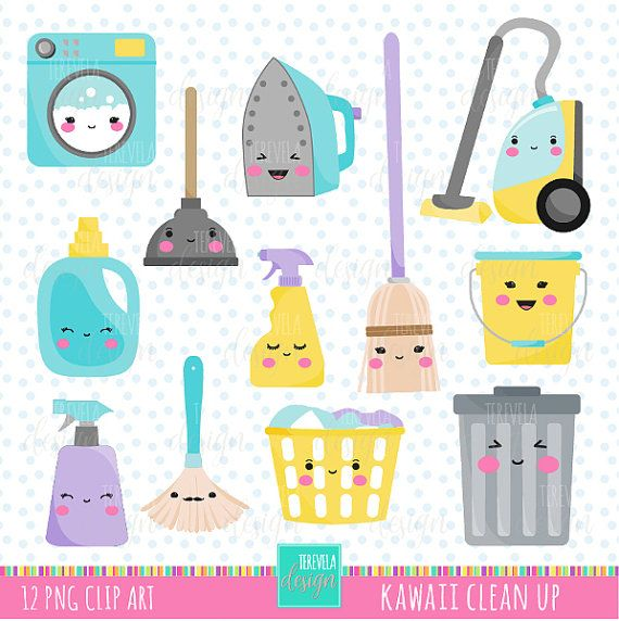 50% SALE CLEANING clipart, commercial use, kawaii cleaning.