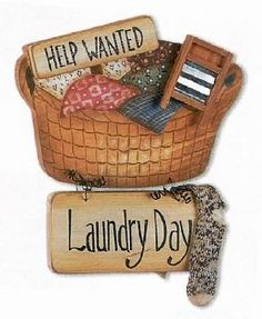 Light color laundry clipart.
