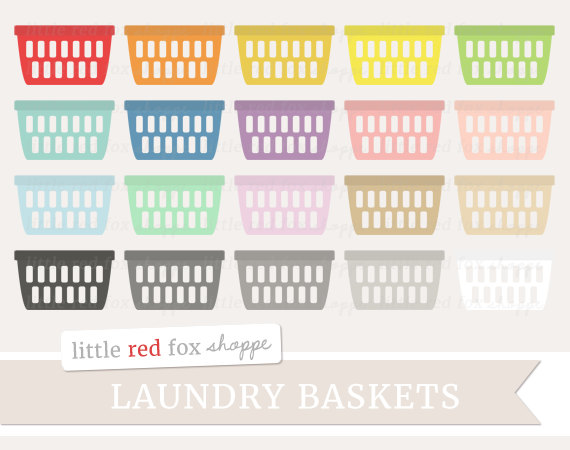 Laundry Basket Clipart Laundry Day Clip Art by LittleRedFoxShoppe.