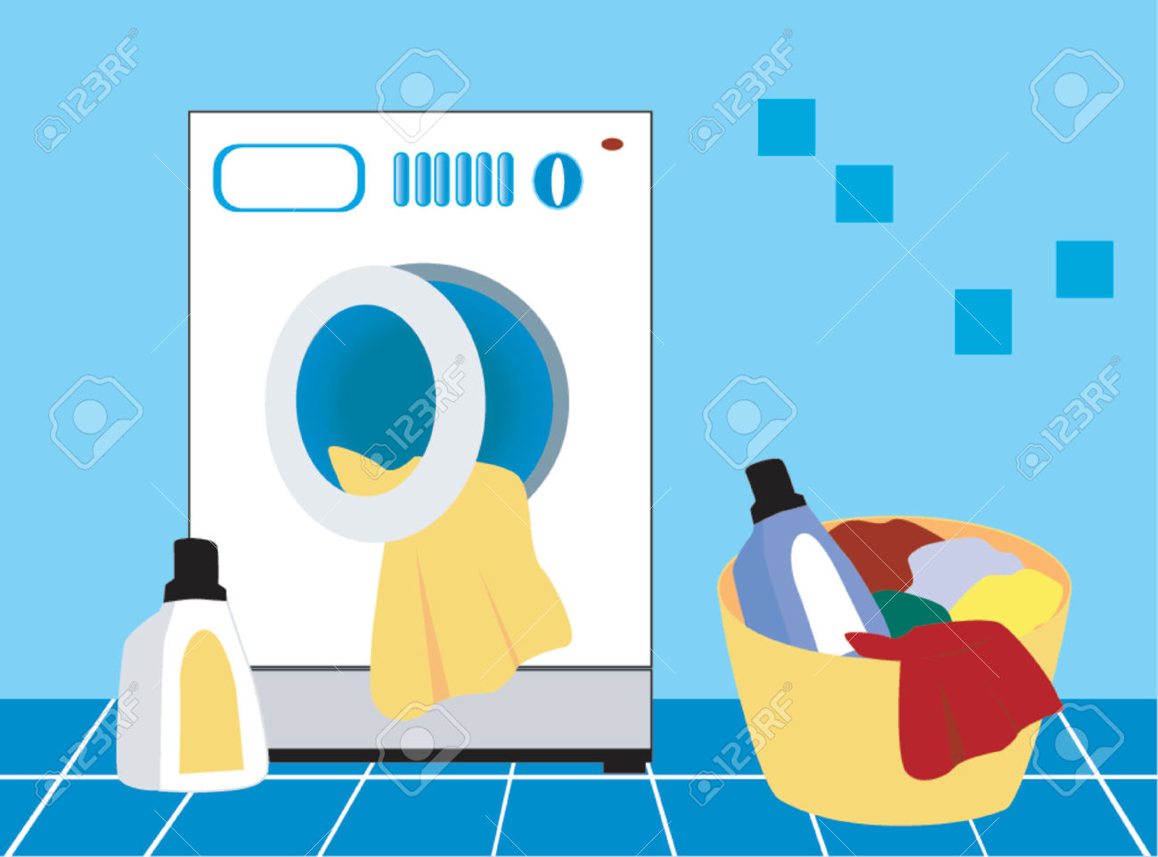 Laundry Day Royalty Free Cliparts, Vectors, And Stock Illustration.