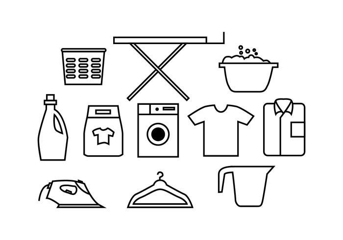 Free Laundry Icon Vector.