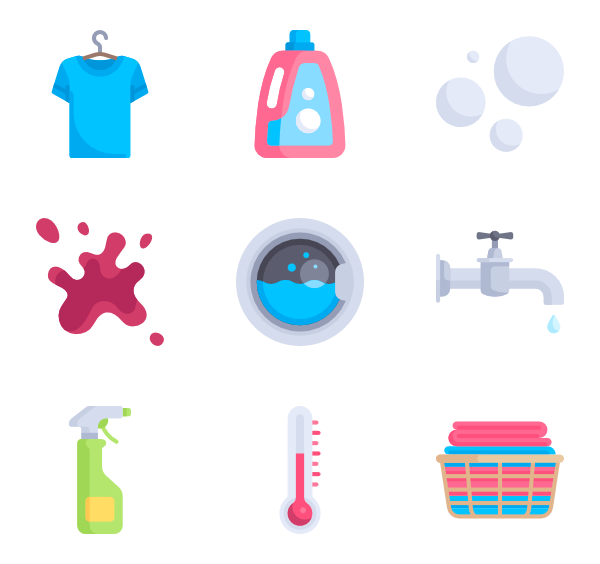 85 laundry icon packs.