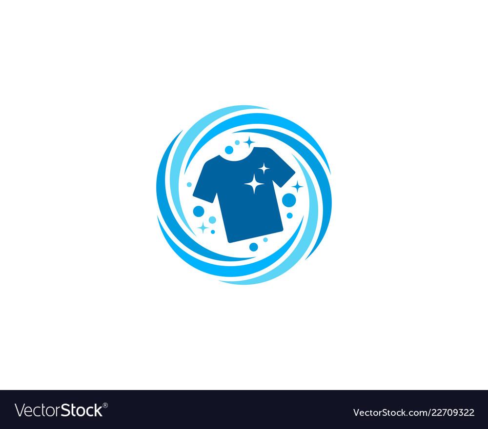 Cloth laundry logo icon design.