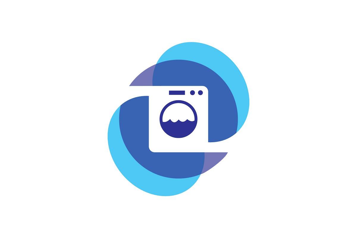 laundry logo ~ Logo Templates ~ Creative Market.
