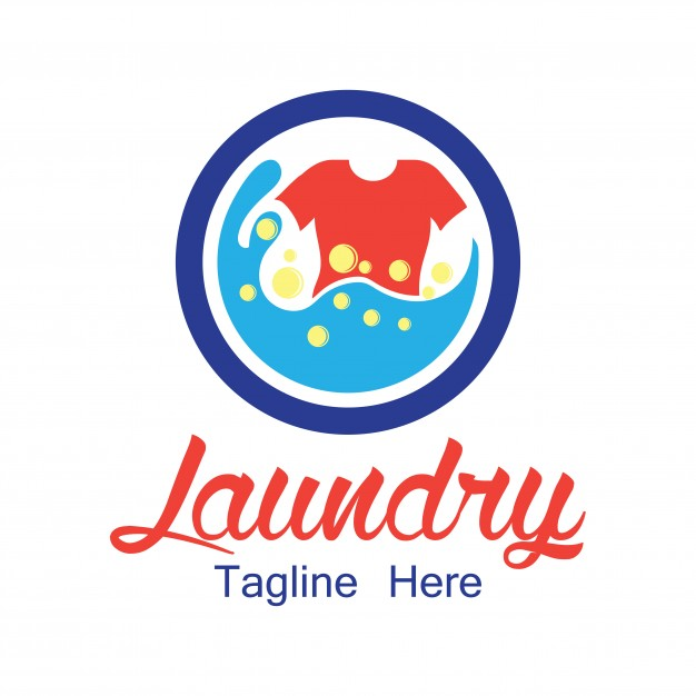 Laundry logo with text space for your slogan Vector.