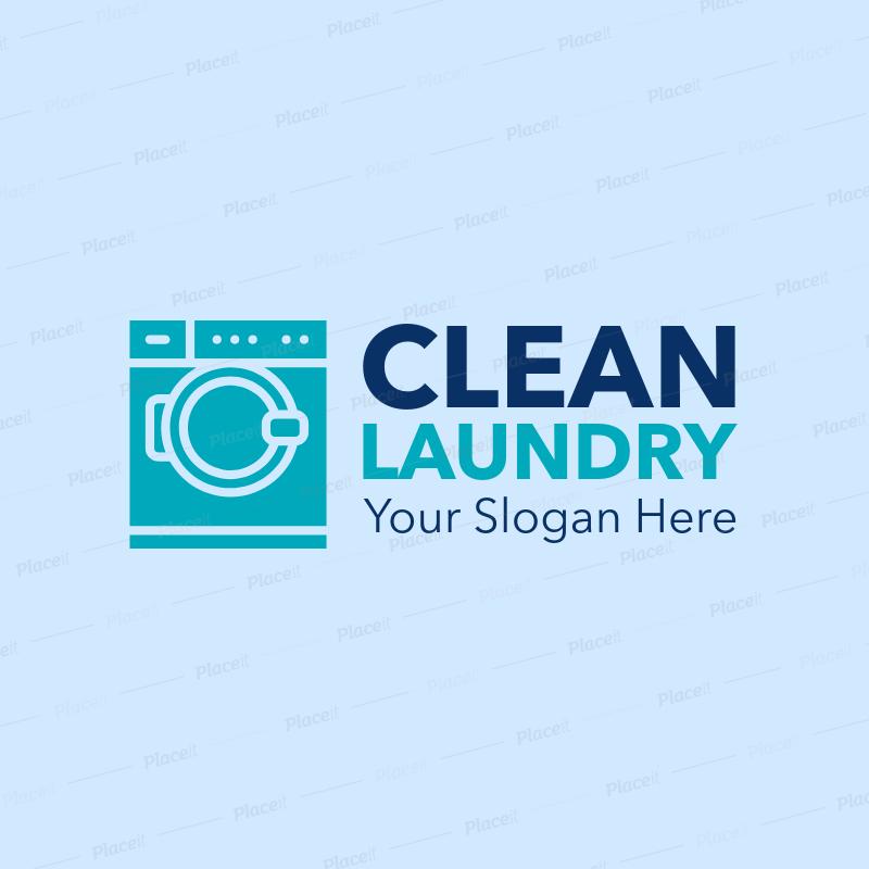 Laundry Logo Maker for a Laundromat 1775.