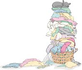 Free Pile of Laundry Clipart and Vector Graphics.