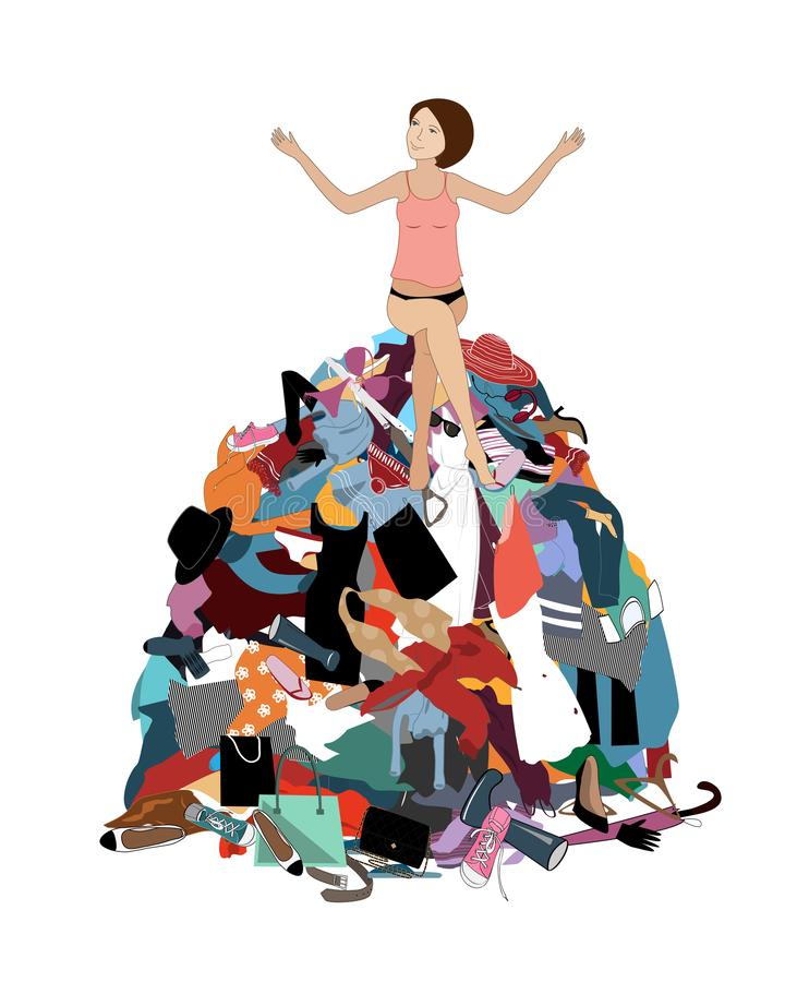 Clothes Pile Stock Illustrations.