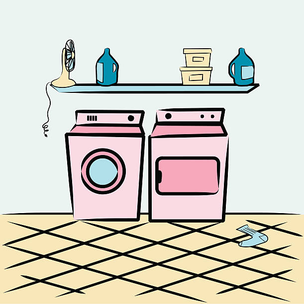 Best Laundry Room Illustrations, Royalty.