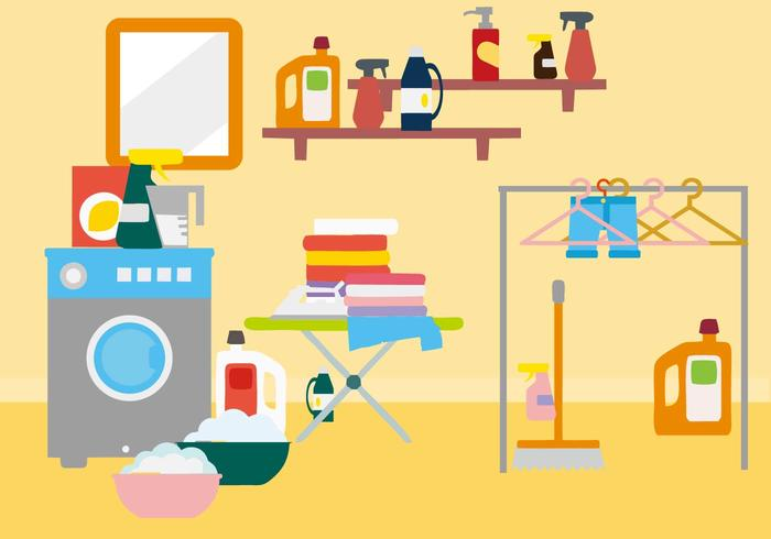 Free Laundry Room Vector.