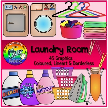 Laundry Room Clipart (My Home Series 2).