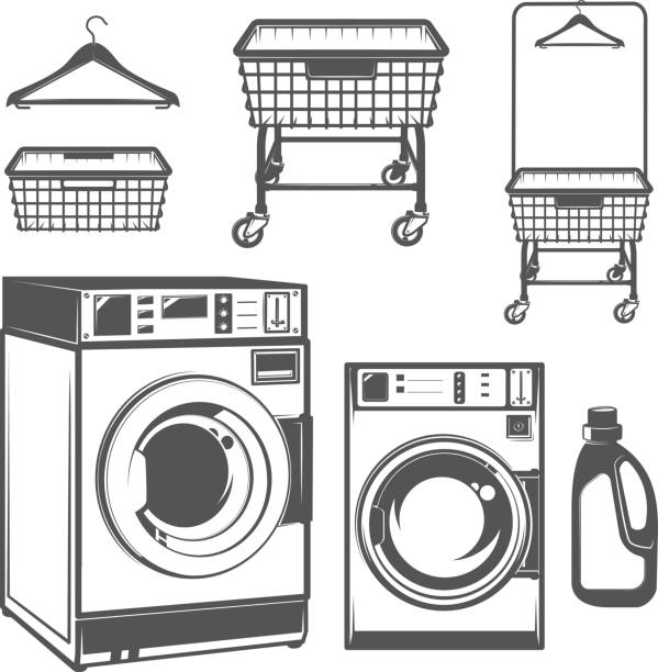 Laundry Room Clipart Black And White.